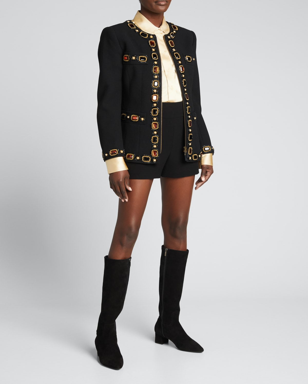 Jewel-Trim Wool Jacket