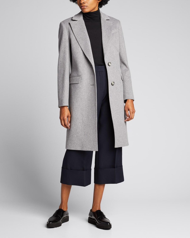 Two-Button Long Wool Coat
