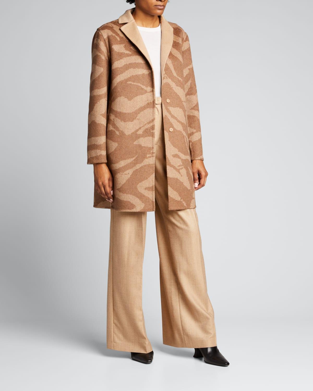 Reversible Wool-Blend Coat