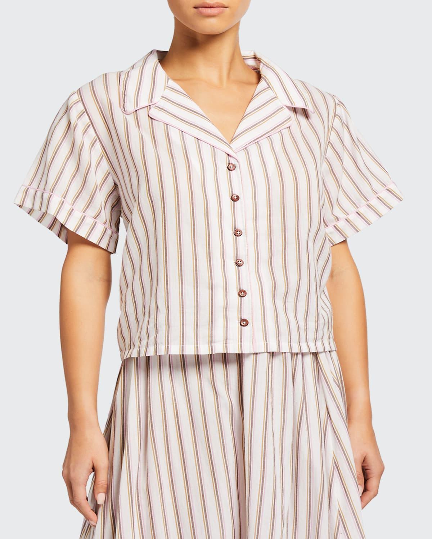 Alice Stripe Boxy Cotton Top