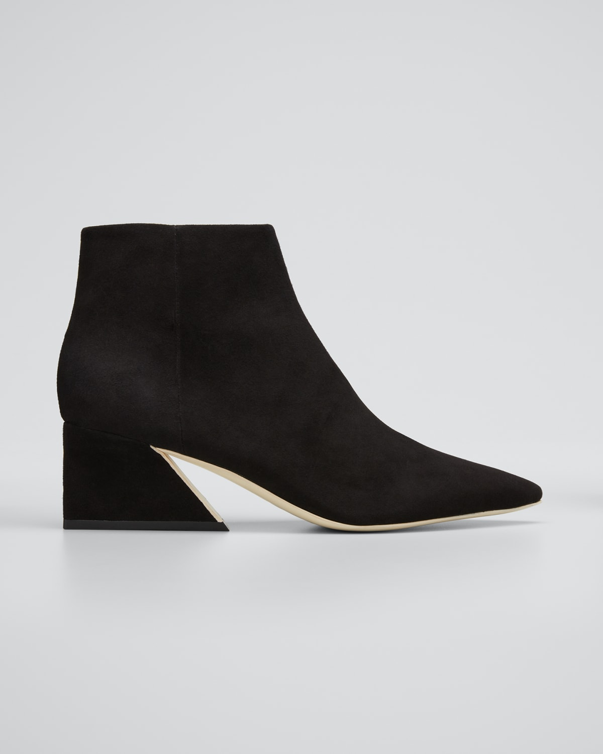 Grace 60mm Pointed Suede Ankle Boots
