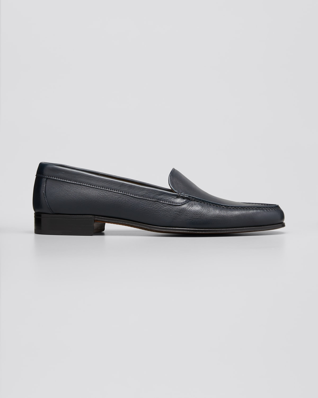 Metallic Leather Venetian Loafer