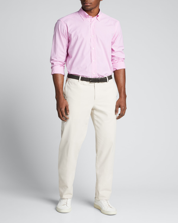 Men's Small Gingham Sport Shirt