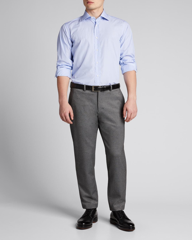 Men's Micro-Stripe Dress Shirt