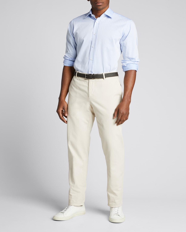 Men's Micro Herringbone Dress Shirt