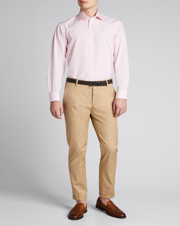 Men's Micro Check Dress Shirt