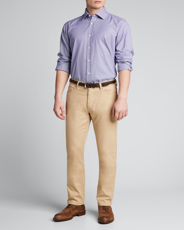 Men's Micro Houndstooth Dress Shirt