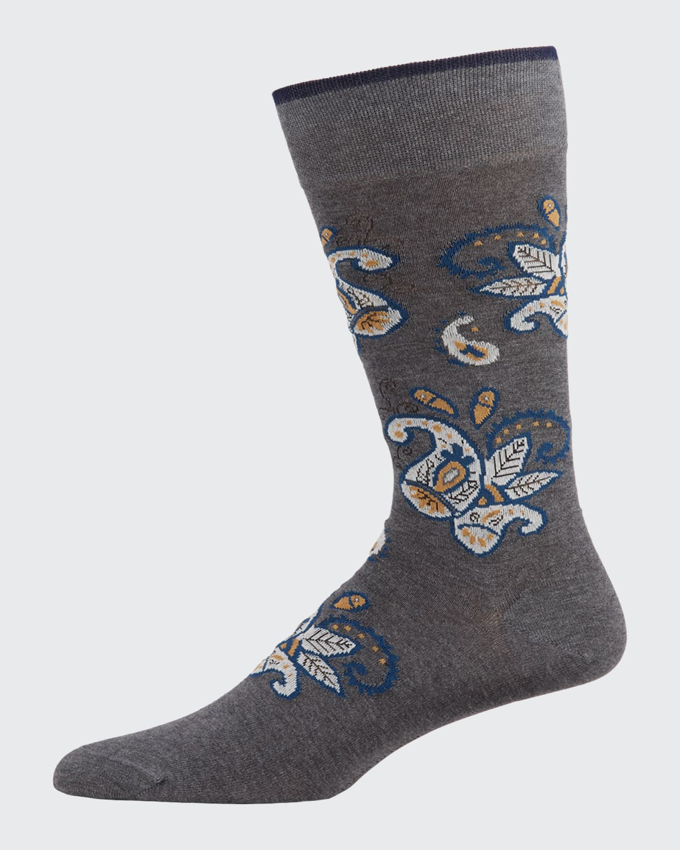 Men's Pima Cotton Paisley Socks
