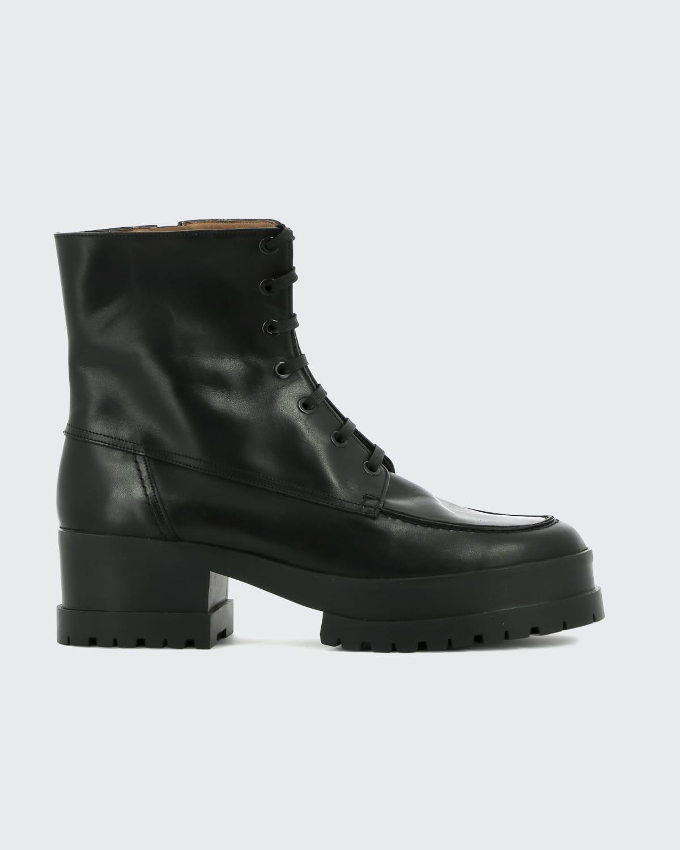 Waddie Zip Platform Combat Boots