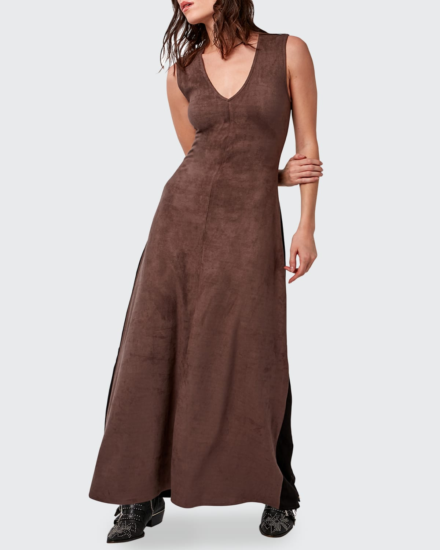 Fifteen Vegan-Suede Maxi Dress
