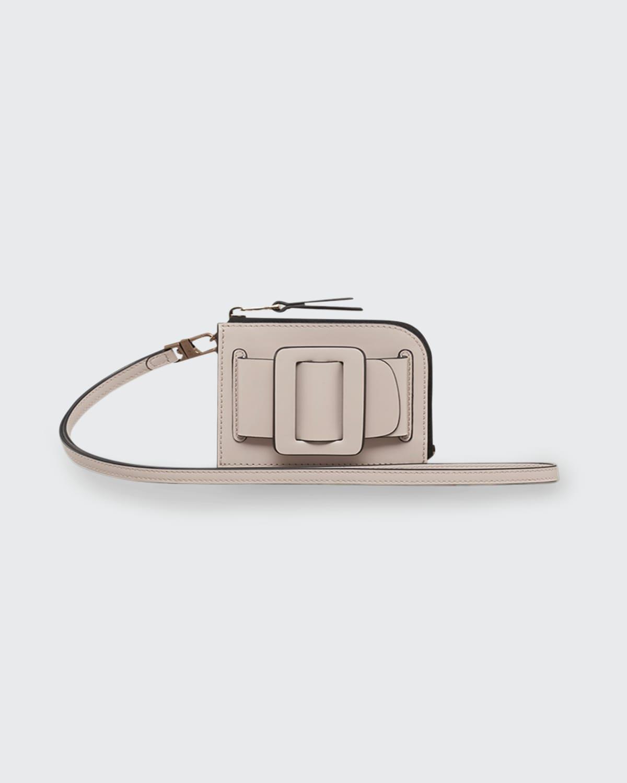 Buckle Leather Card Case Holder
