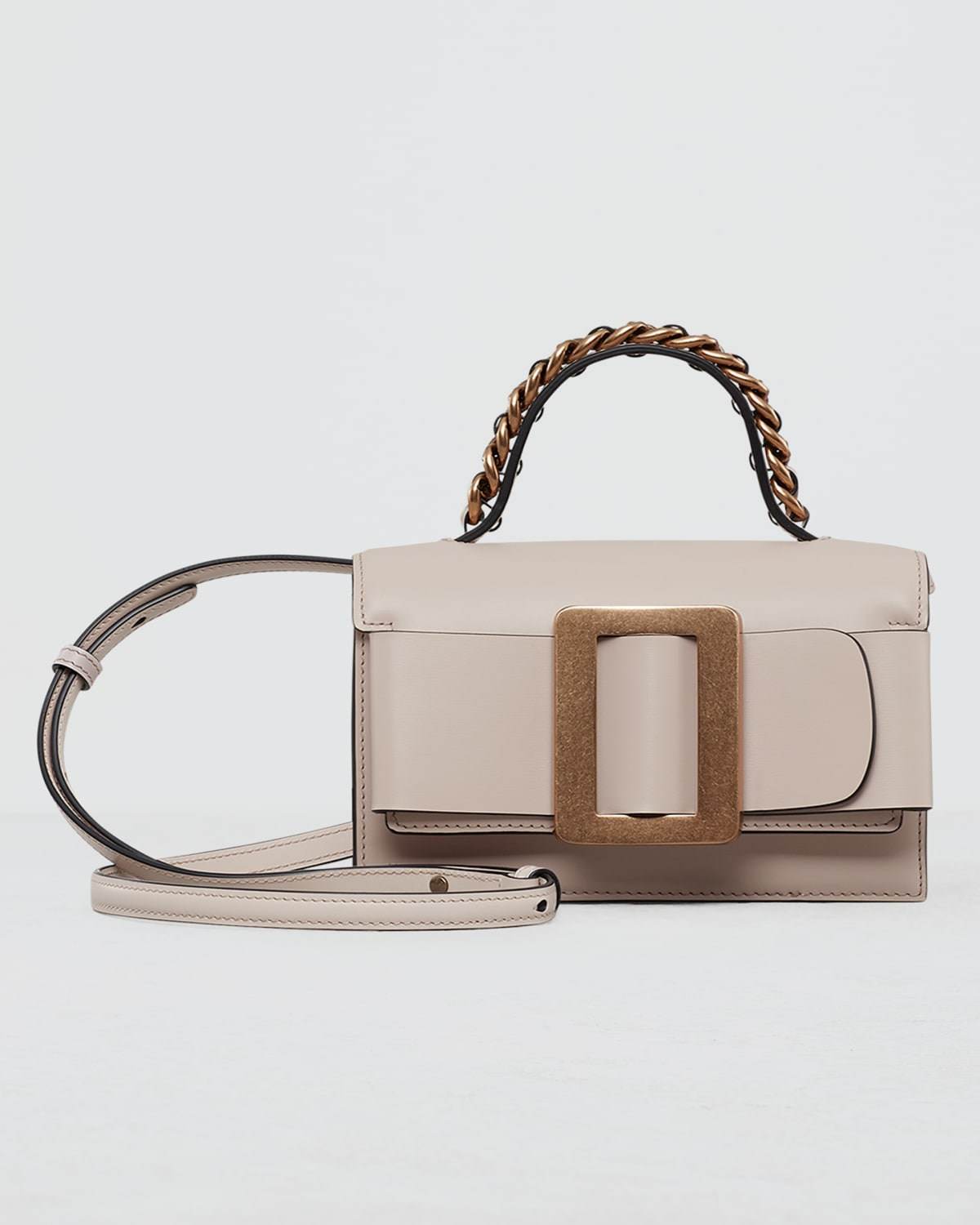 Fred 19 Chain and Leather Belted Top-Handle Bag