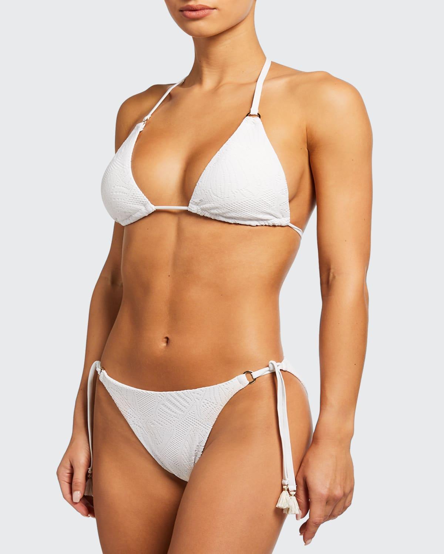 Malibu Palm Lace Triangle Bikini Top
