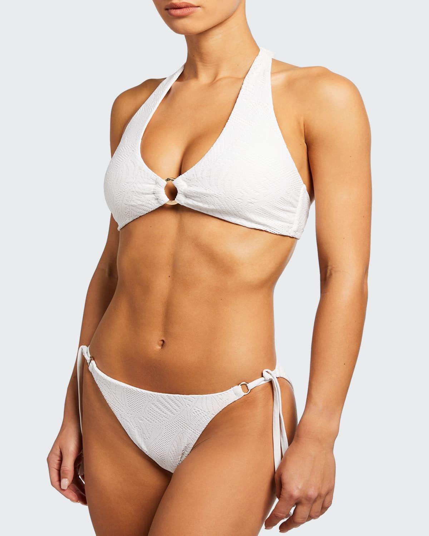Nantucket Palm Lace Ring Bikini Top