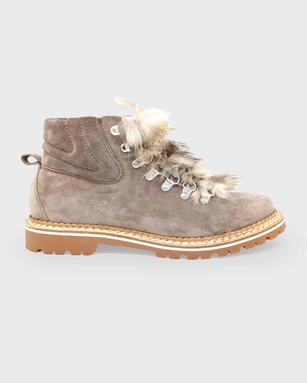 Camelia Suede Fox Hiker Boots