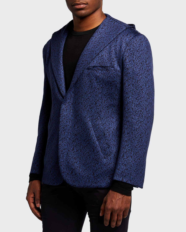 Men's Hooded Geo-Print Sport Jacket
