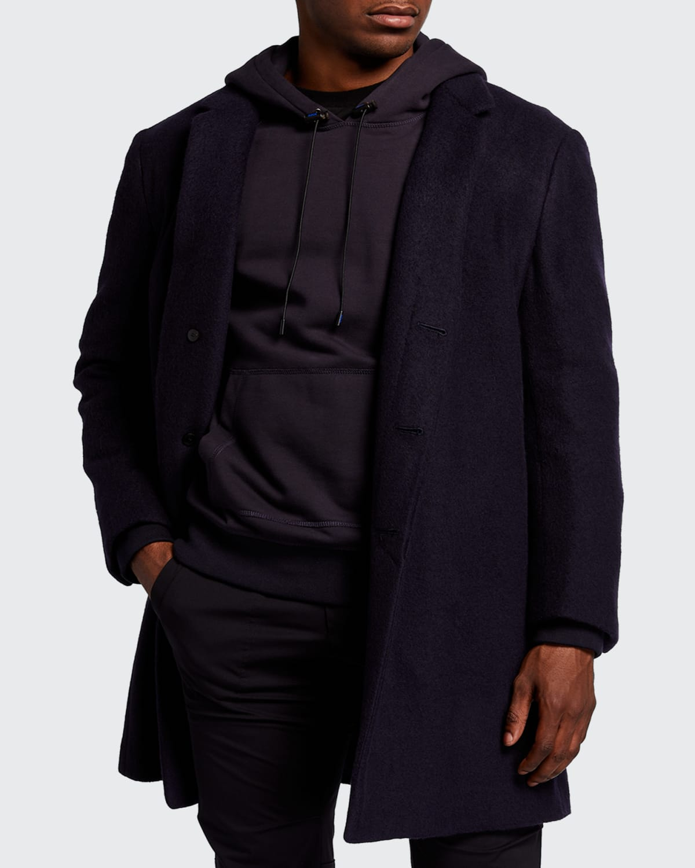 Men's Solid Cashmere-Blend Overcoat