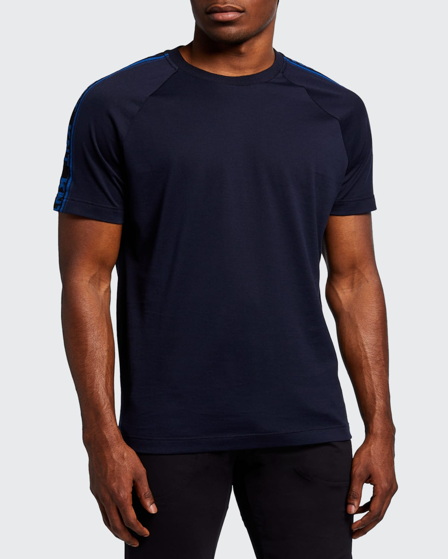 Men's Solid T-Shirt with Shoulder Logo