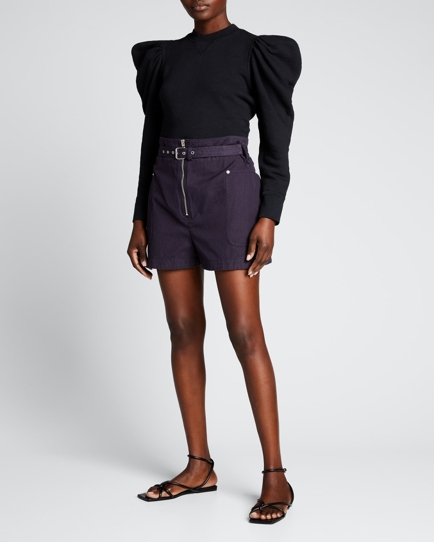 Parana Cotton-Linen Paperbag Shorts