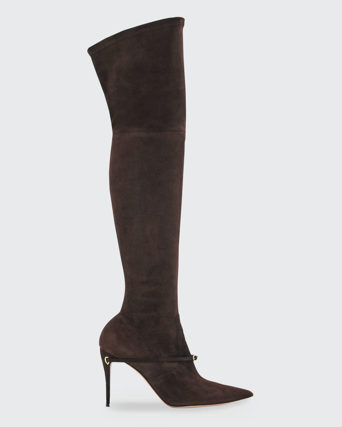 Alessandro 105mm Suede Over-The-Knee Boots