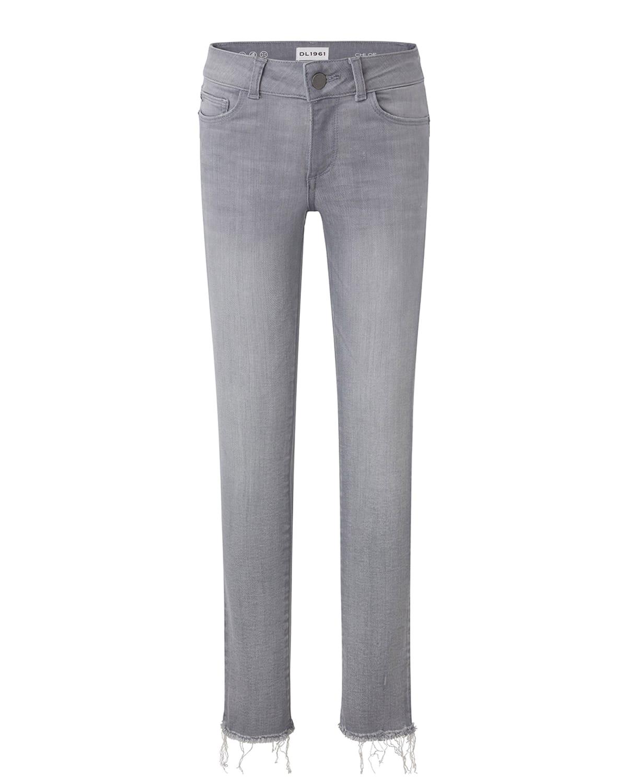 Girl's Chloe Raw Hem Skinny Denim Jeans