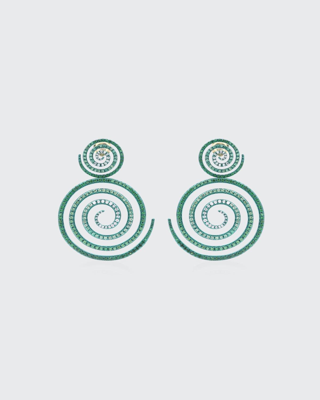 Kaleidoscope of Hope Tsavorite Drop Earrings