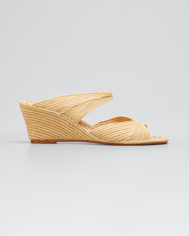 Houcine Raffia Wedge Sandals