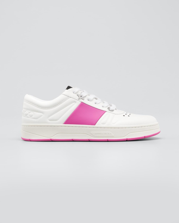 Hawaii Leather Stripe Flatform Sneakers