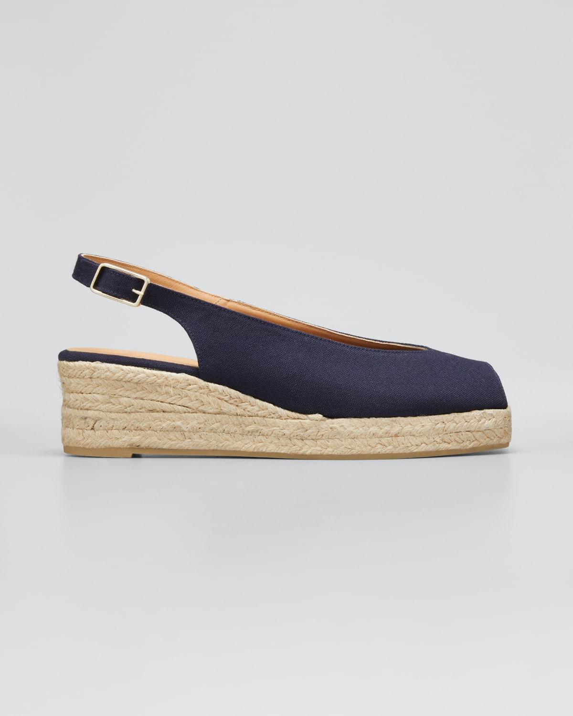 Dosalia Canvas Wedge Espadrille Sandals