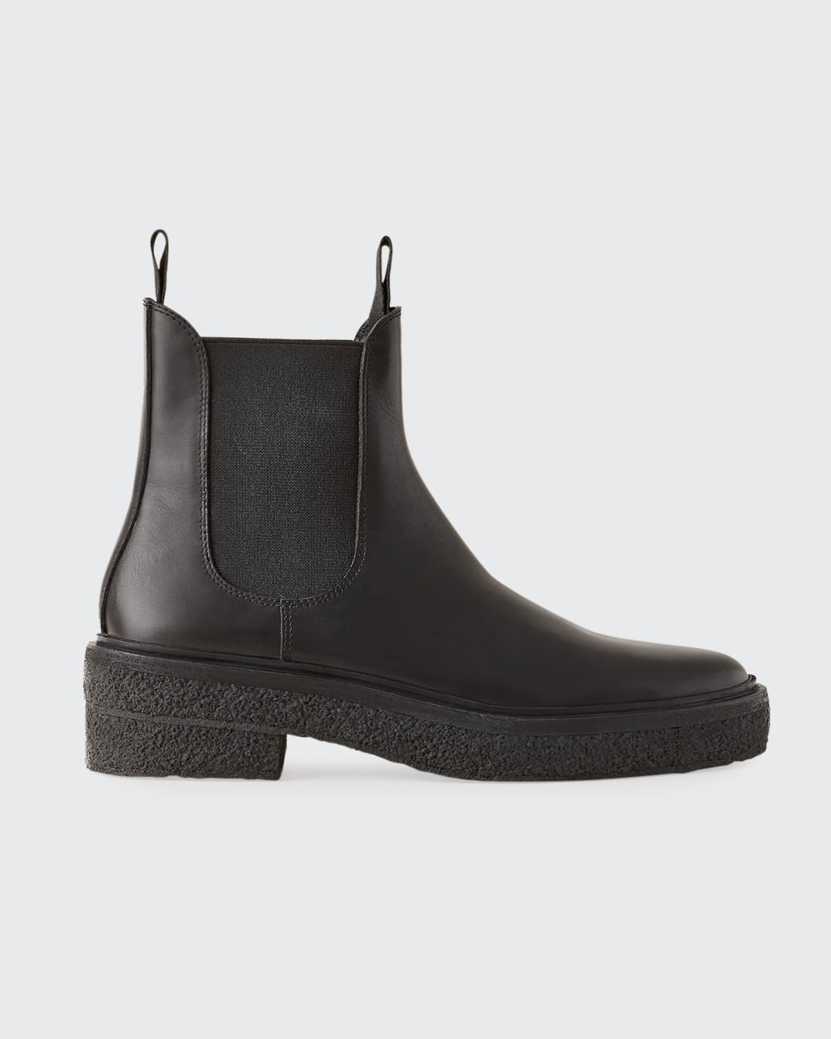 Raquel Gored Leather Chelsea Boots