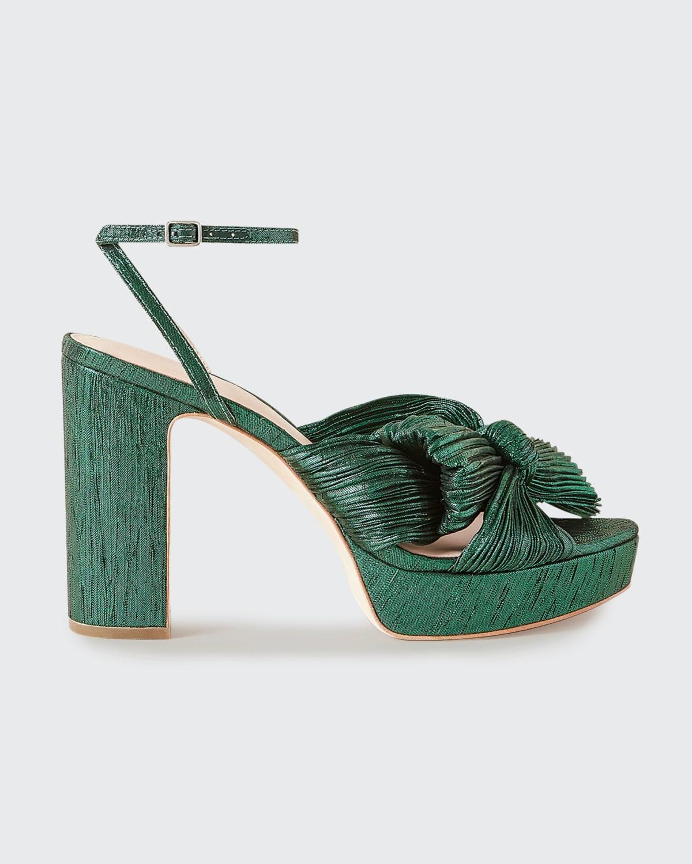 Natalia Pleated Knot Platform Sandals