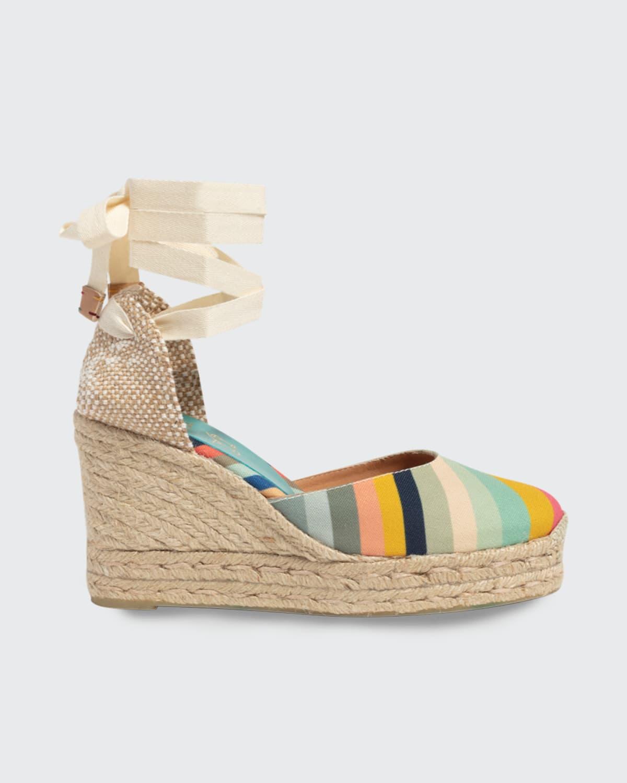 x Paul Smith Carina Rainbow Ankle-Tie Espadrilles