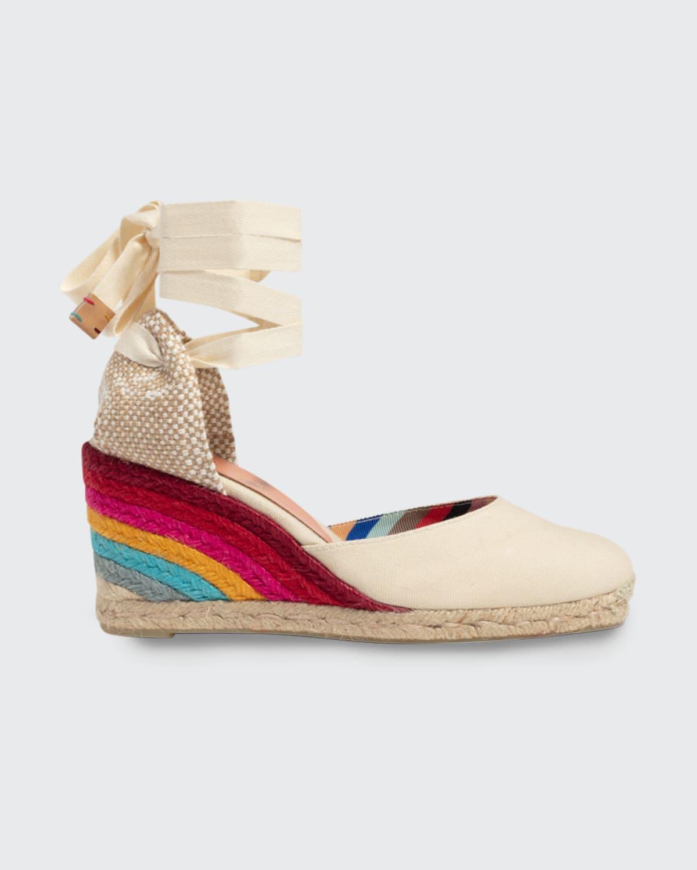 x Paul Smith Carina Rainbow Wedge Espadrilles
