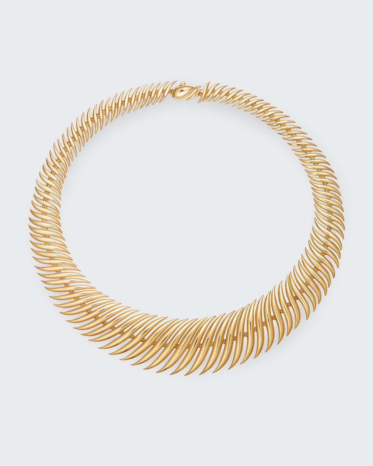 Flame Necklace in 18K Yellow Gold