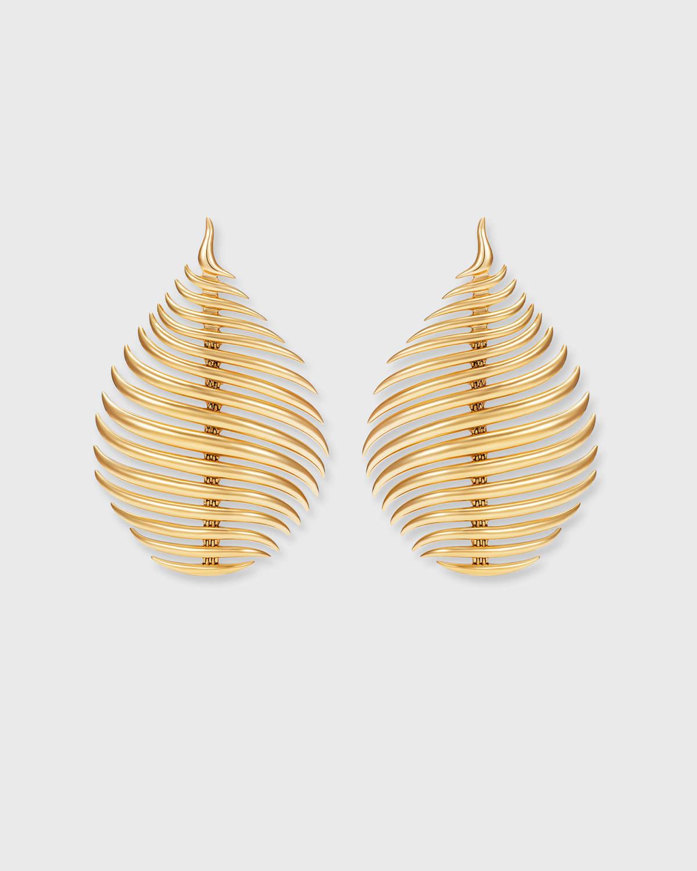 Flame Earrings in 18k Yellow Gold