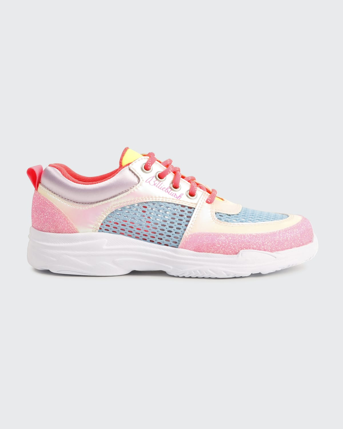 Girl's Multicolored Mix-Media Chunky Sneakers