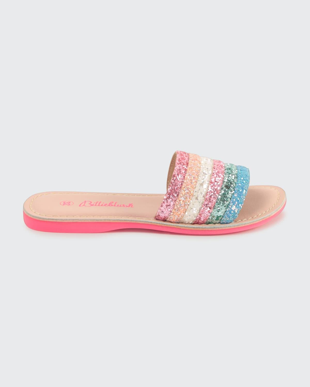 Girl's Multicolored Glitter Sandals