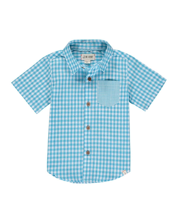 Boy's Cotton Short-Sleeve Check Shirt