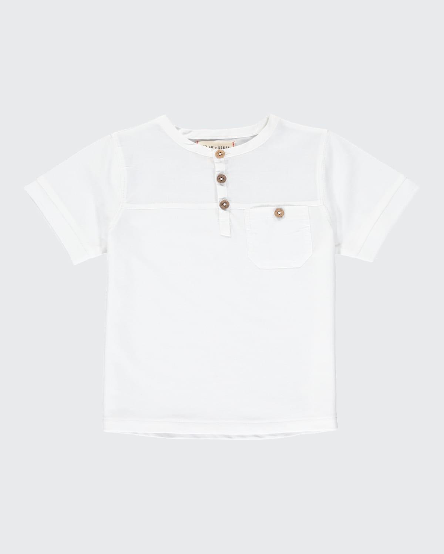 Boy's Boardwalk Short-Sleeve Henley T-Shirt