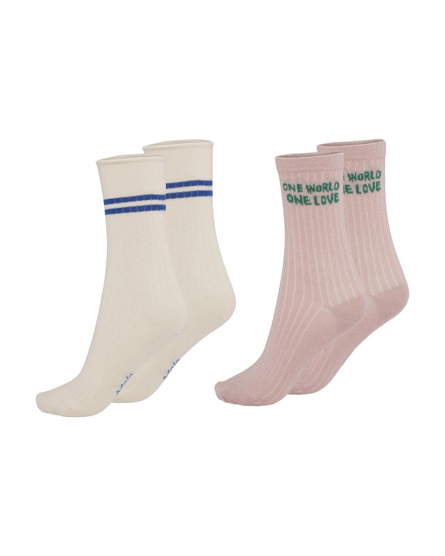 Girl's Nomi 2-Pack Mixed-Print Sock Set
