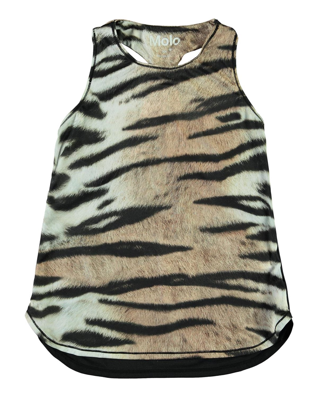 Girl's Oriana Tiger-Print Tank Top with HeiQ Smart Temp
