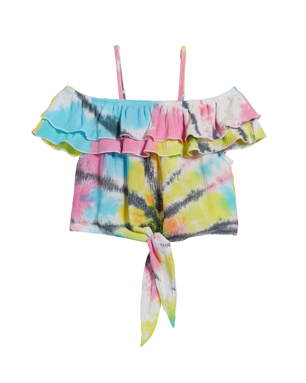 Girl's Tie-Dye Gauze Off-the-Shoulder Top
