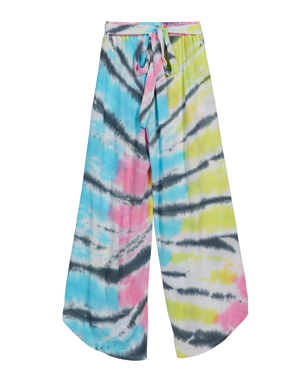 Girl's Tie-Dye Wide-Leg Gauze Pants
