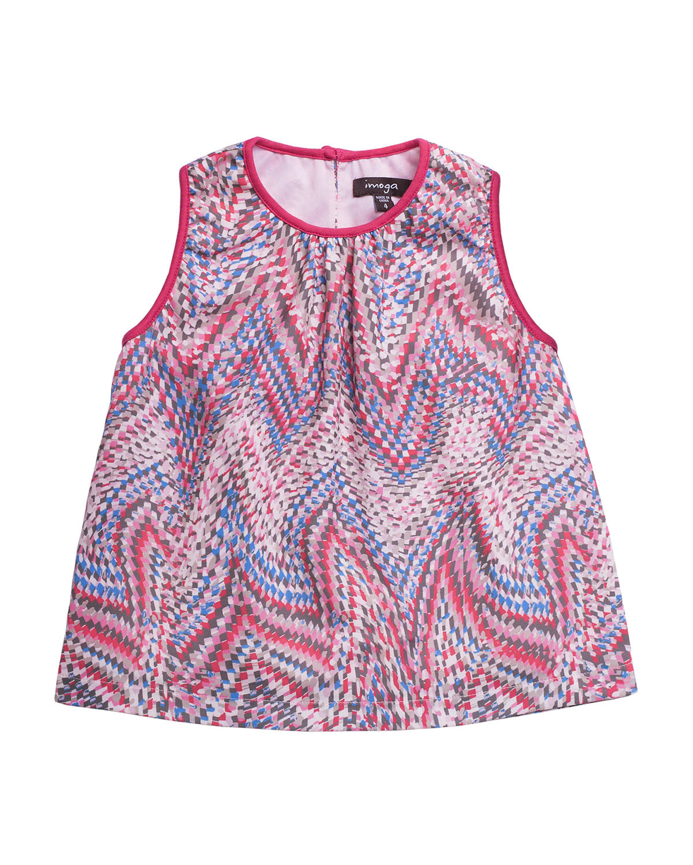 Girl's Malta Printed Sleeveless Top