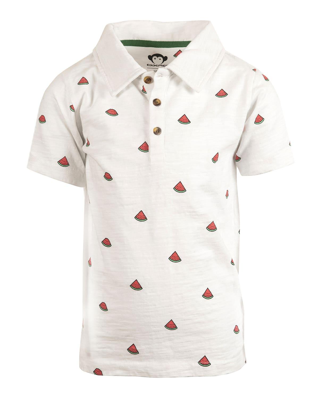 Boy's Fairbank Watermelon-Print Polo Shirt