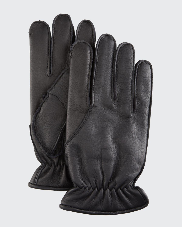 Men's Deerskin Cashmere-Lined Gloves