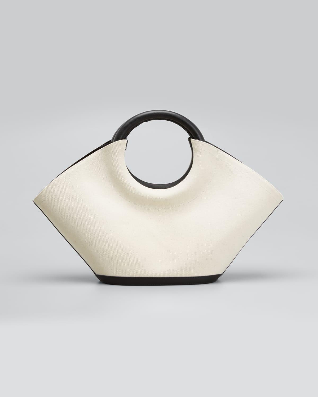 Cabassa Bicolor Ring-Handle Tote Bag