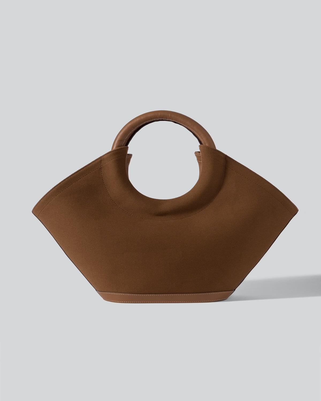 Cabassa Canvas Round-Handle Tote Bag