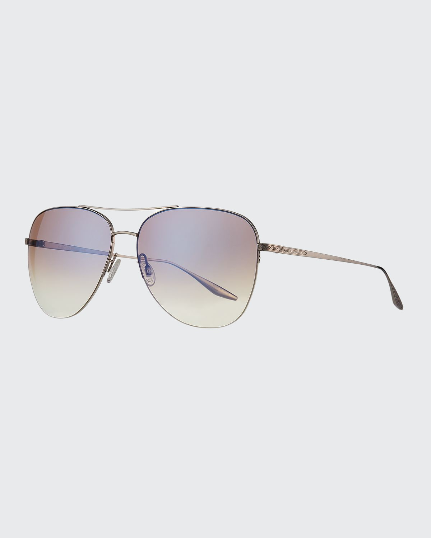 Chevalier Semi-Rimless Metal Aviator Sunglasses