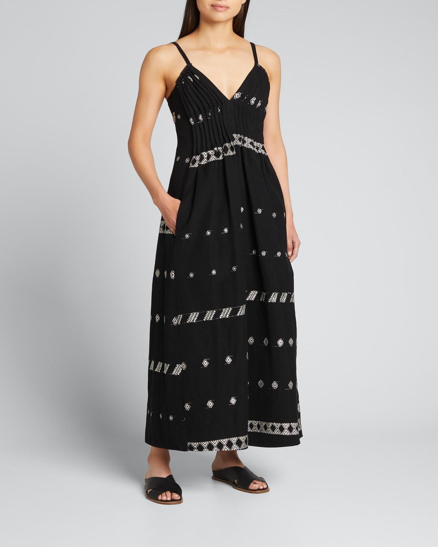 Luciana Embroidered Maxi Dress